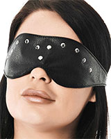 Leather Blindfold with Rivets