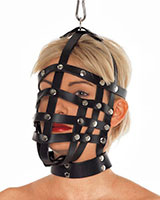 Leather Muzzle Mask with Hanging Ring