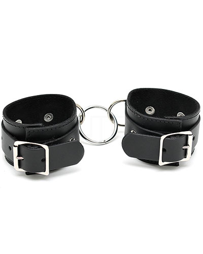 Leather Arm Cuffs with Middle Ring