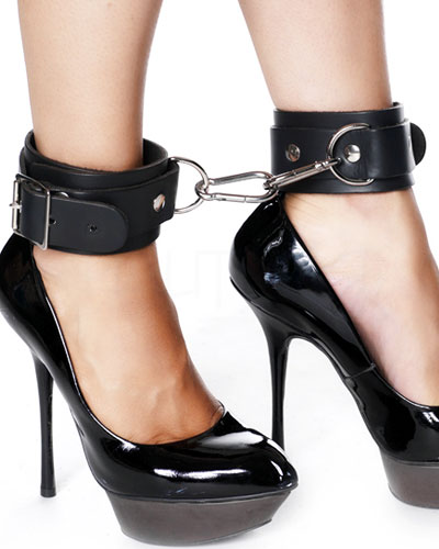 Leather Leg Cuffs with Snap Links