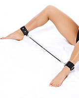 Leather Leg Cuffs with Spreader
