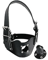 Leather Harness with Penis Gag