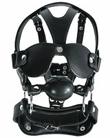 Leather Head Harness with Gag