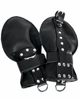 Grain Leather Bondage Gloves
