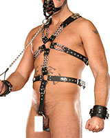 Leather Harness with Cockring