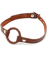 Brown Leather O-Ring Gag