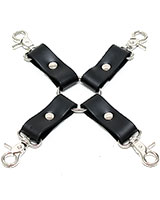 Leather Hogtie with 4 Snap Hooks