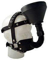 Leather Face Harness with Funnel
