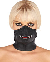 Zipped Leather Mouth Mask