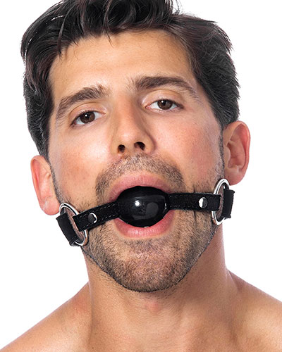Leather Gag with Silicone Ball