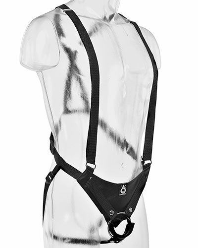 "King Cock Hollow Strap On 12"" with Suspenders"