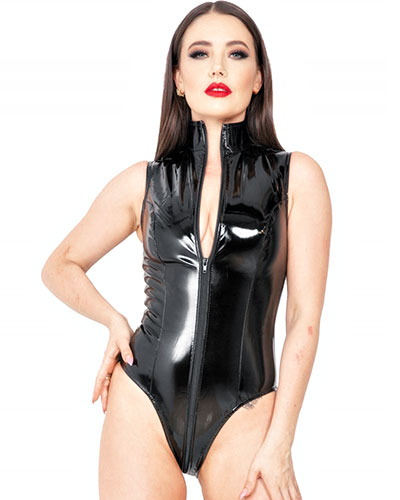 Black Gloss PVC Body with 3 Way Zipper