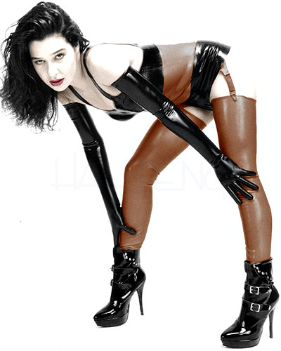 Latex Long Stockings - up to Size 2XL