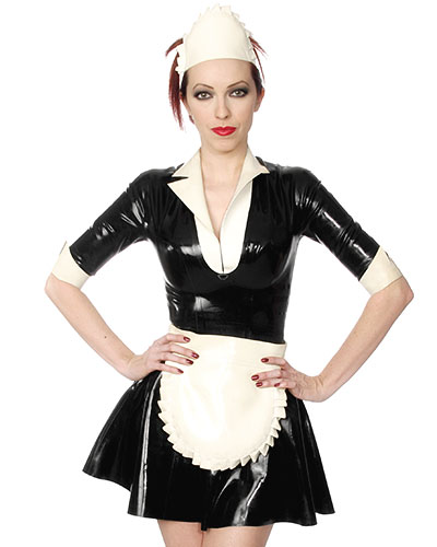 Maids Dress - Dienstmädchenuniform aus geklebtem Latex