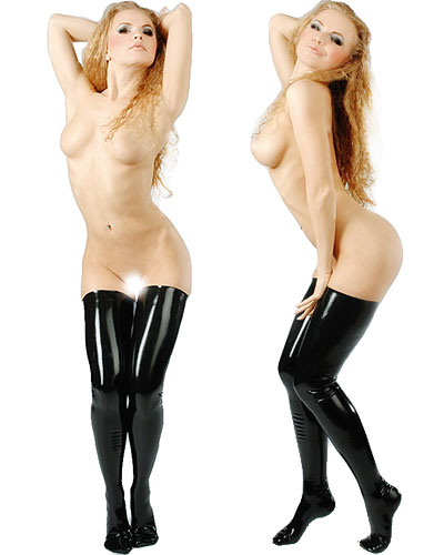 Anatomical Moulded Long Fetisso Latex Stockings