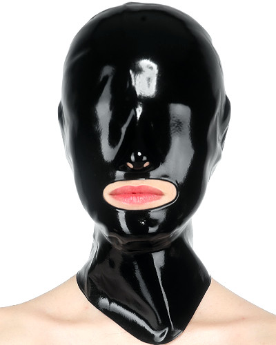 Anatomical Fetisso Latex Hood with Large Mouth Opening