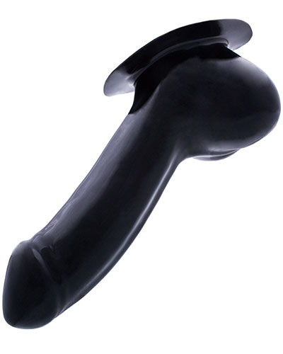 Latex Penis Sheath Adam with Base Plate - Black