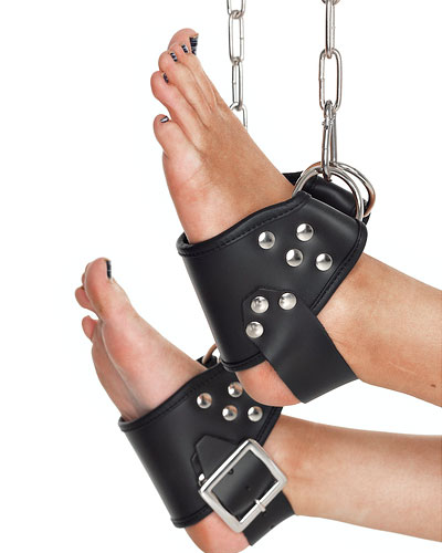 Leather Hanging Ankle Cuffs