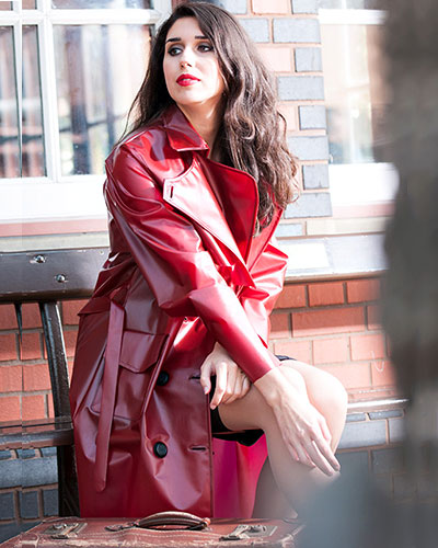 PU Fashion Trenchcoat