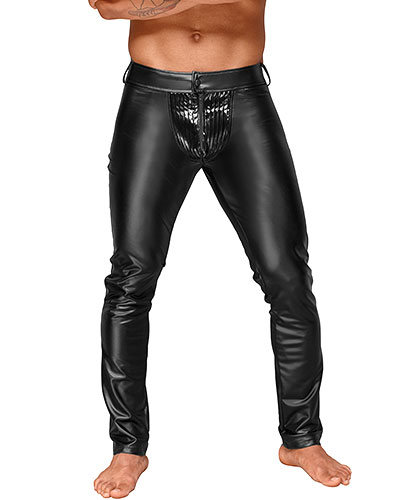 Powerwetlook Pants with Zipper and Gloss PVC Bulge