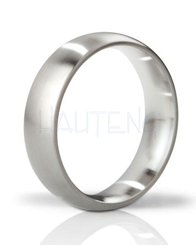 Mystim THE EARL - Round Brushed Stainless Steel Cockring