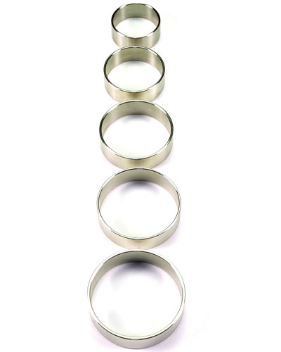 Stainless Steel Cockring - 15 mm Wide - 5 Diameters