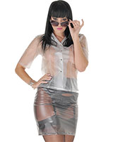 PVC Pencil Skirt - up to 4XL