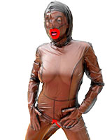 PVC Doll Catsuit for the Living Female Plastic Doll