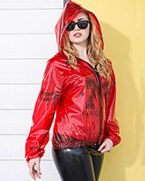 Hooded PVC or PU Bomber Jacket - Unisex up to Size 4XL