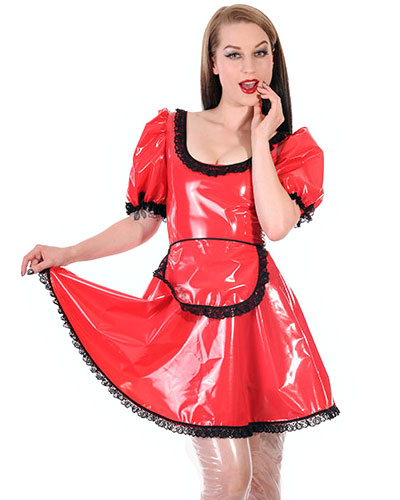 PVC Maid\'s Outfit for Ladies