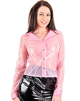 Ladies Long Sleeved PVC Blouse