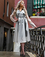 PVC Skirted Coat - up to Size 4XL
