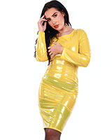 PVC Pencil Dress - up to 4XL