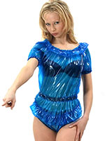 Short Sleeved PVC Body with Frills