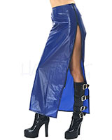 PVC Long Skirt with Zipper