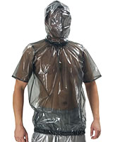 PVC Short Sleeved SHirt with Hood