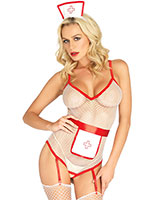 Nurse Roleplay Lingerie Set - 3 Pcs.