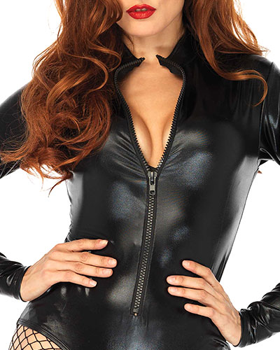 Wetlook Body with Front Zipper
