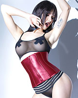 FOREVER MATTE Merlot Wetlook Waist Cincher - up to Size 3/4XL