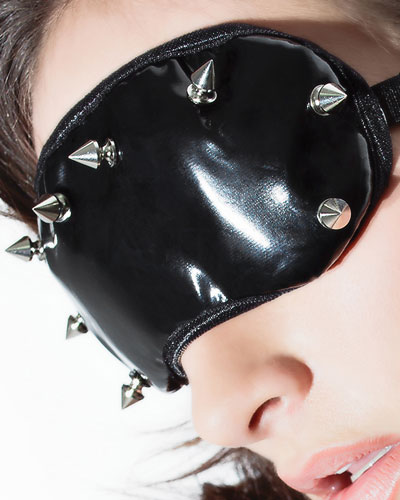 Gloss PVC Eyemask with Spikes