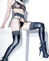 FOREVER MATTE Elastic Top Wetlook Stockings