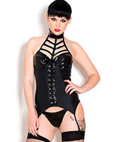 Wetlook and Gloss PVC Seductor Basque