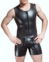 Neoprene Short Suit with Zipped Front Flap