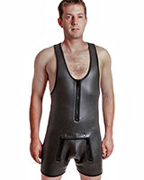 Neoprene Wrestling Suit with Zipped Front Flap