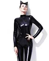 Miss Whiplash Wet Look Catsuit