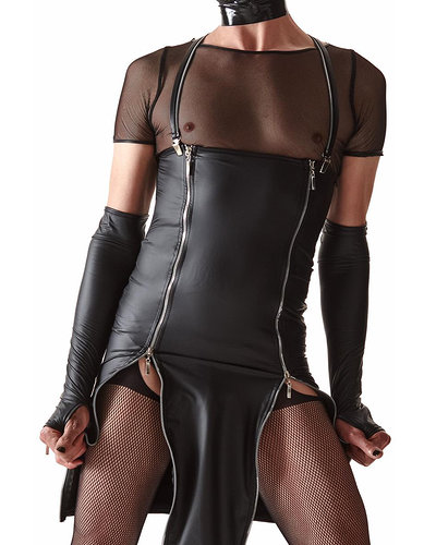 Crossdresser Bleistiftkleid aus Wetlook von Regnes Fetish Planet