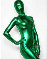 Green Shiny Metallic Zenshin Tights Suit