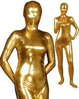 Golden Shiny Metallic Zenshin Tights Suit