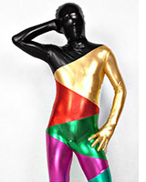Rainbow Shiny Metallic Zenshin Tights Suit