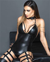 Wetlook Body with Suspenders